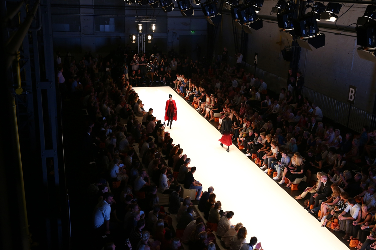 DUESSELDORF, GERMANY - JULY 22: Models walk the runway at the Breuninger show during Platform Fashion July 2016 at Areal Boehler on July 22, 2016 in Duesseldorf, Germany. (Photo by Florian Ebener/Getty Images for Platform Fashion)
