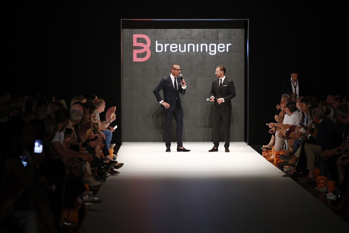 DUESSELDORF, GERMANY - JULY 22: Andreas Rebbelmund and Thomas Hoehn attend the Breuninger show during Platform Fashion July 2016 at Areal Boehler on July 22, 2016 in Duesseldorf, Germany. (Photo by Andreas Rentz/Getty Images for Platform Fashion)