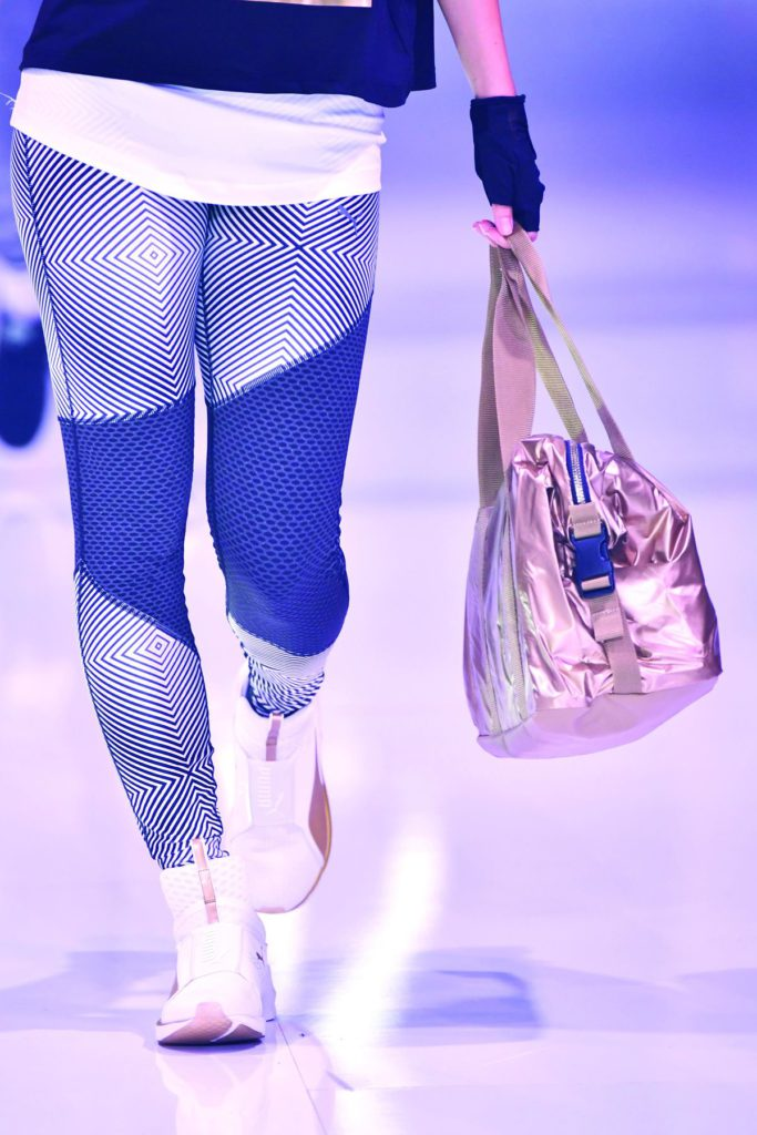BERLIN, GERMANY - SEPTEMBER 02:  A model, bag detail, walks the runway at the Puma fashion show during the Bread&Butter by Zalando at arena Berlin on September 2, 2016 in Berlin, Germany.  (Photo by Alexander Koerner/Getty Images for Bread&Butter by Zalando)