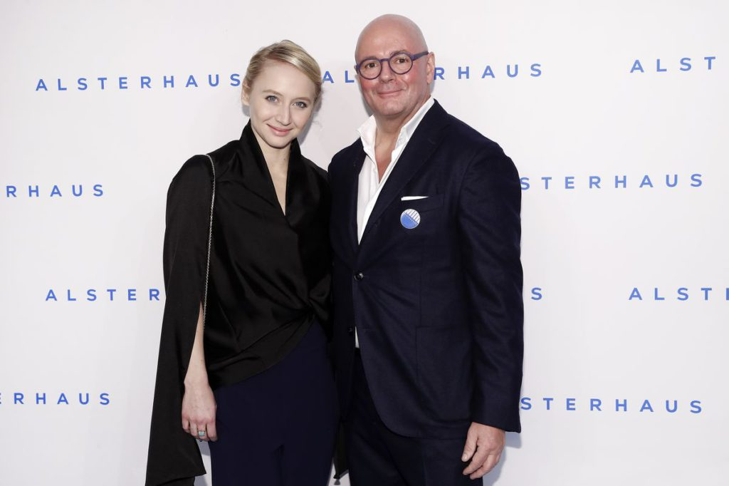 HAMBURG, GERMANY - NOVEMBER 16: Anna Maria Muehe and Andre Maeder attend the new Luxury Hall Opening of the Alsterhaus on November 16, 2016 in Hamburg, Germany. (Photo by Franziska Krug/Getty Images for Alsterhaus)