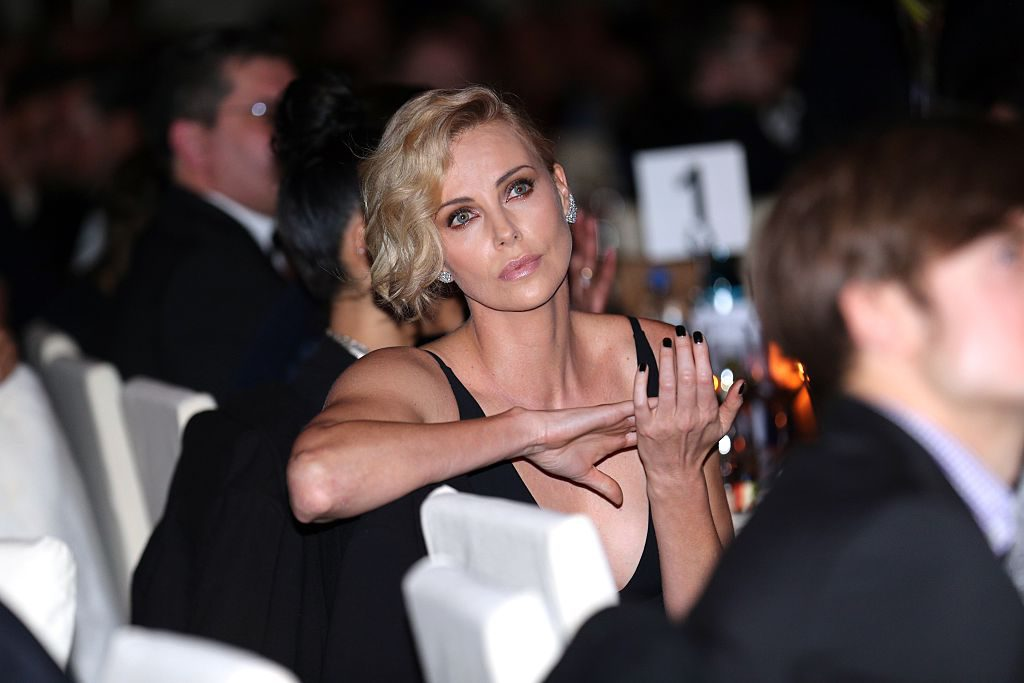 BERLIN, GERMANY - FEBRUARY 15: Charlize Theron during the Cinema For Peace Gala 2016 during the 66th Berlinale International Film Festival on February 15, 2016 in Berlin, Germany.  (Photo by Gisela Schober/Getty Images for Cinema For Peace)