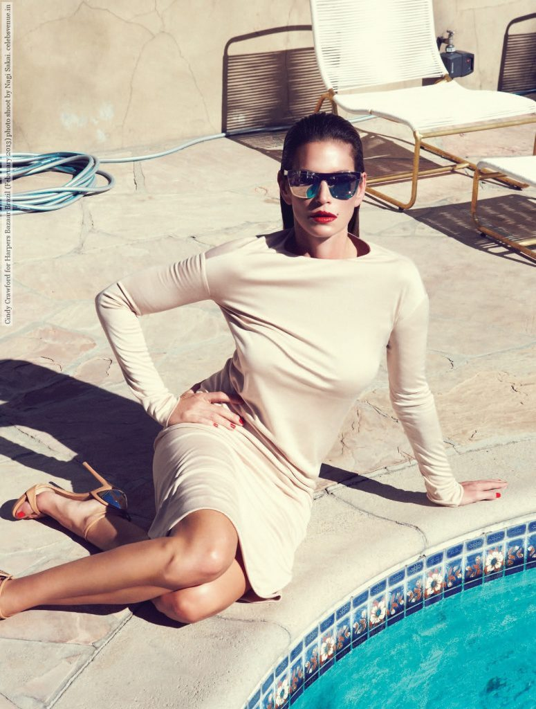 Cindy Crawford for Harpers Bazaar Brazil (February 2013) photo shoot by Nagi Sakai